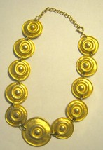 """Matte gold metal disk link up to 17"""" choker necklace  - $19.79"""
