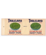 Tableland Sweet Peas Vintage Can Label Somerset PA 1 lb 4 oz  - $4.99
