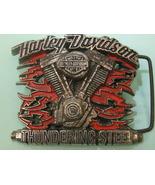 Super Rare Official HARLEY DAVIDSON Thundering Steel Buckle Vintage Bike... - $285.00
