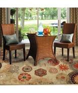 Indoor Outdoor Printed Patio Area Rug 5 x 8 Medallion Brown Antique Home... - $94.95
