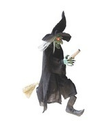 "Halloween Decoration Party Decor Spooky Flying Witch Holiday Night 42"" - $839,15 MXN"