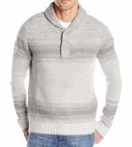 Nautica Men's Lofty Ombre Shawl Collar Sweater Grey Heather X-Large - £46.49 GBP