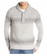 Nautica Men's Lofty Ombre Shawl Collar Sweater Grey Heather X-Large - $62.73