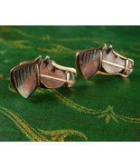 Vintage abalone Cuff links Horse Head Oxford  Cufflinks Cowboy equestria... - $125.00