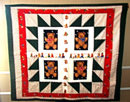 Home made baby/youth Teddy Bear quilt - $35.00