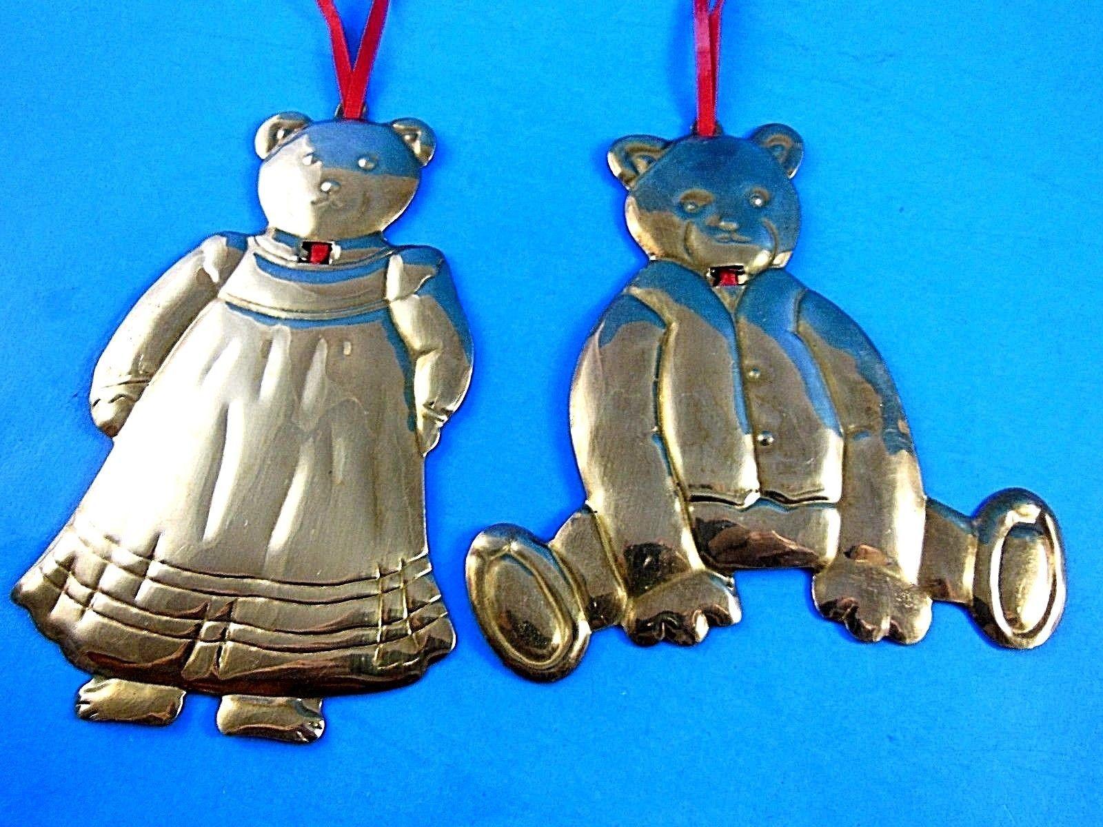 DEPT 56 Brass Bear Christmas Ornaments Set of 2 - $8.31