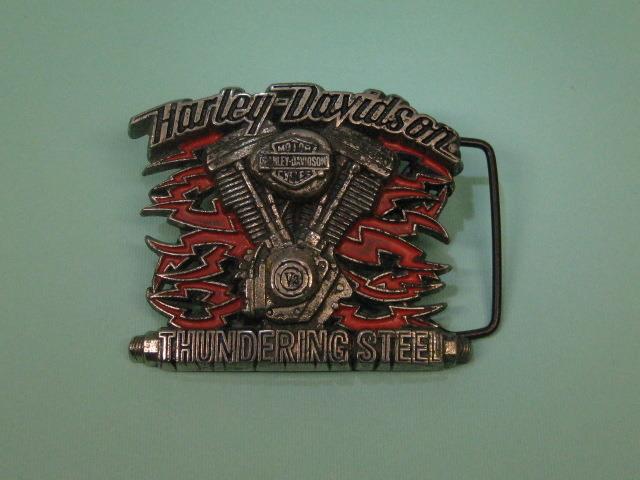 Super Rare Official HARLEY DAVIDSON Thundering Steel Buckle Vintage Biker 1991