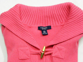 """Chaps Shawl Collar 100% Cotton ¼"""" Sleeves Solid Pink Pullover Sweater Size: M - $19.99"""