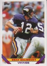 Sean Salisbury 1993 Topps Card #72 - $0.99