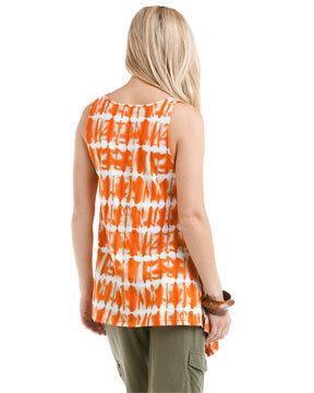 MICHAEL Michael Kors Orange Spice Tie Dye Tank XS-NWT $89