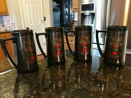 Lot of 4 Michelob Since 1896 Plastic Beer Mugs Black - $31.52