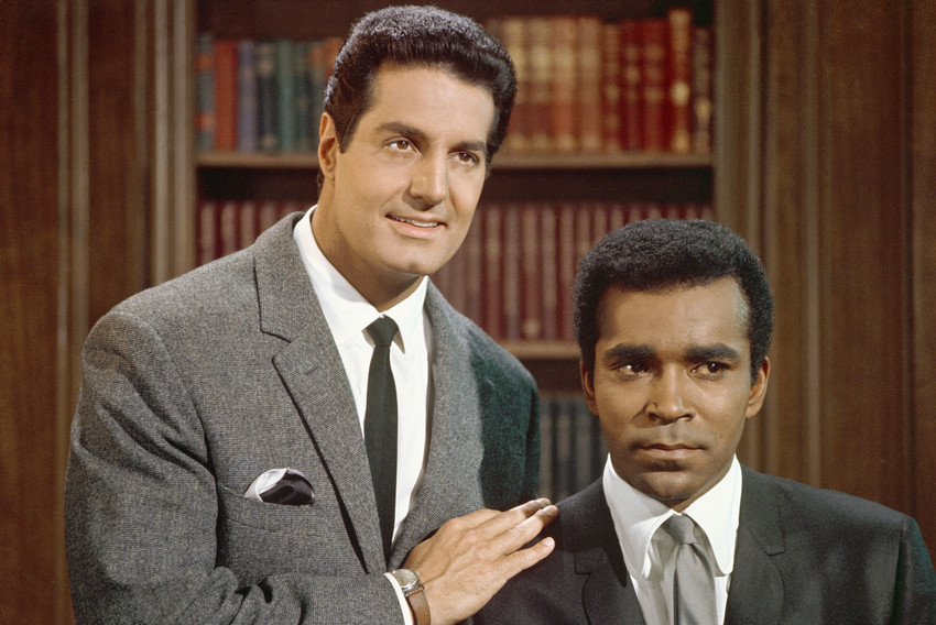 Peter Lupus and Greg Morris in Mission: Impossible 1969 portrait together 18x24