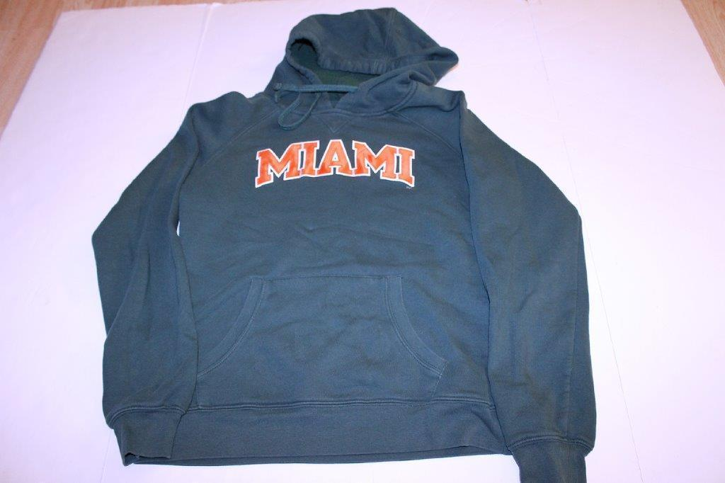 Primary image for Women's Miami (FL) Hurricanes M Hoodie Hooded Sweatshirt (Green) Champion