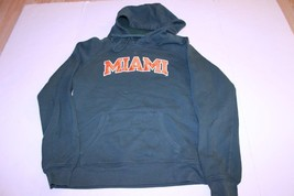 Women's Miami (FL) Hurricanes M Hoodie Hooded Sweatshirt (Green) Champion - $18.49