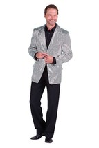 Gents 2017 style Sequinned Cabaret Jackets - Silver - $73.01