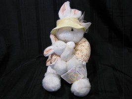 APPLAUSE THE MAGIC OF SPRING MUSICAL WIND UP BUNNY RABBIT WHITE & BABY A... - $36.62