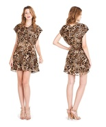 "W118 by Walter ""Margot"" Brown Cheetah Dress Size Small NWT $158 - $49.00"