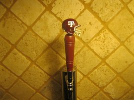Texas A&M Aggies Kegerator Beer Tap Handle Football Helmet Team Bar NCAA - $31.63