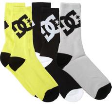 DC Shoes Apparel Big Boys' Lifted Von 3 Packung Crew Gelb Schwarz Weiß Socken