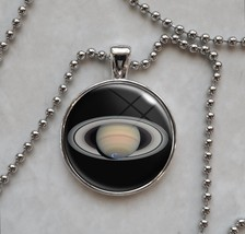 Saturn 6th Planet in Solar System Science Astronomy Pendant Necklace - £9.88 GBP+