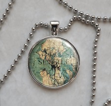 Choose a City Vintage Map Locations Pendant Necklace - $14.00+