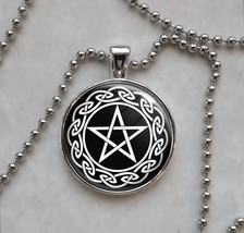 Wicca Pentagram Pentacle Spirit Earth Fire Air Water Pendant Necklace - £10.64 GBP+