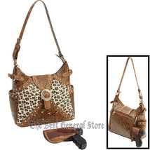 Tooled Faux Leather Western-Style Concealed Carry Purse Weapon Gun Faux ... - $48.70