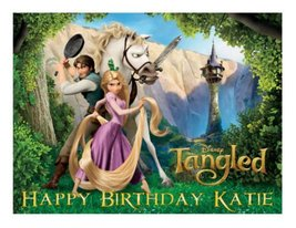 Tangled edible cake image frosting sheet topper - $9.99