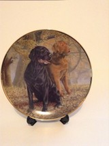 Franklin Mint Lifelong Companions Lab Dogs Outd... - $14.01