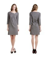 Max & Cleo Slate Side Pleat Sheath Dress Sz 4  NWT $128 - $67.63