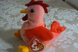 "Rare TY Original Beanie Babies "" Strut "" The Rooster Errors- #4171-Retired-Error image 3"