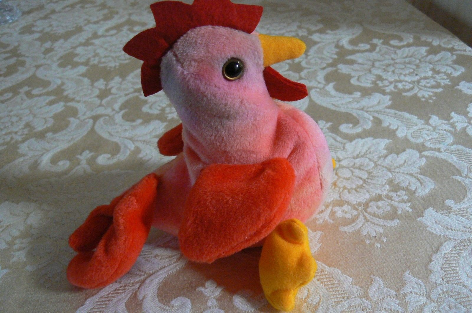 "Rare TY Original Beanie Babies "" Strut "" The Rooster Errors- #4171-Retired-Error image 5"