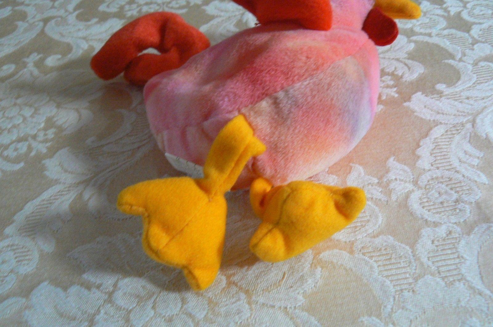 "Rare TY Original Beanie Babies "" Strut "" The Rooster Errors- #4171-Retired-Error image 6"
