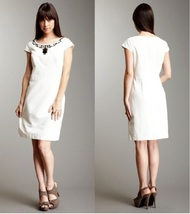 Ellen Tracy Gem Embellished Cap Sleeve Dress Sz 2  NWT $128 - $48.02