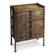 Industrial Urban Iron Rustic Cabinet Chest of 6... - $480.15