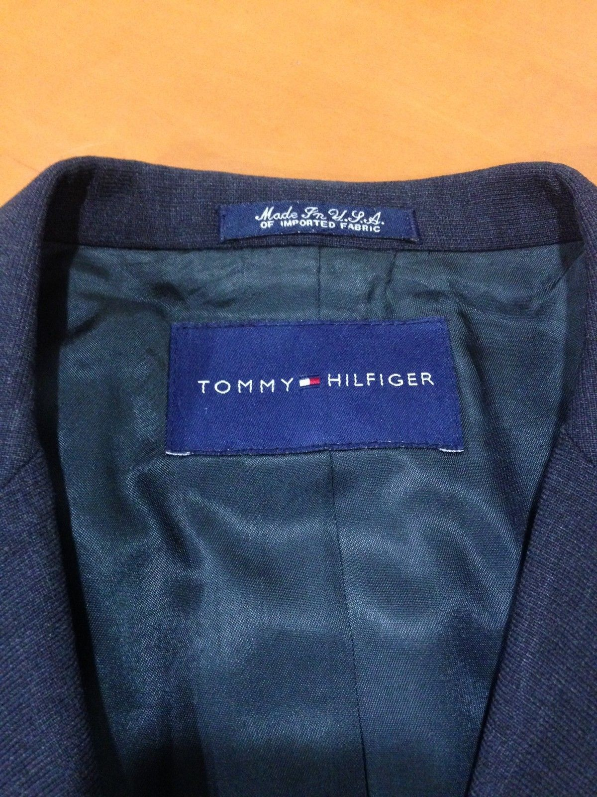 Primary image for Mens Men's Tommy Hilfiger Dark Gray Grey Three Button Sport Jacket Blazer 42R