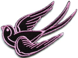 Bird tattoo swallow dove swiftlet sparrow biker applique iron-on patch new S-566 - $2.95