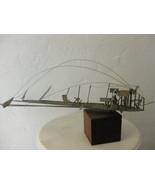 Mid Century Modern Eames Era Modernism Abstract Metal Sculpture - $775.00