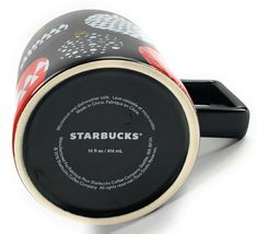 Starbucks Coffee Co. Christmas Ornament Black, Red, White 14 Oz. Cup Mug 2016 image 3