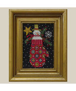 Smitten christmas holiday cross stitch chart All Through Night - $3.60
