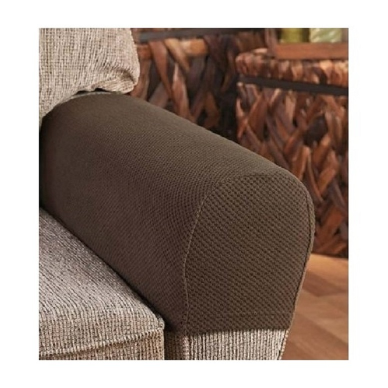 Armrest Covers Stretchy 2 Piece Set Chair or Sofa Arm Protectors Stretch to Fit