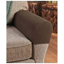 Armrest cover stretch to fit  chocolate  thumb200