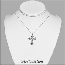 925 Sterling Silver Cross with CZ Stones - $19.75