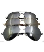 Oversized Mirrored Aviator Sunglasses Silver Gold or Black Frame XXL 6.9... - $9.50