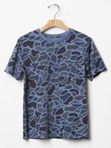Gap Kid Boys Tee Shirt XL 12 Blue Camo Crew Neck Pocket Cotton Short Sle... - $13.99