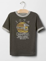 Gap Kids Boy Tee Shirt Sz 8 10 Motor Graphic Grey Short Sleeve Crew Neck... - $14.95