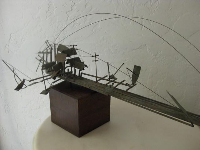 Mid Century Modern Eames Era Modernism Abstract Metal Sculpture
