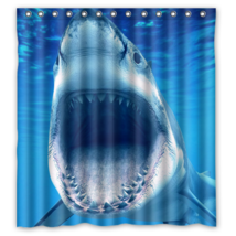 Shark #01 Shower Curtain Waterproof Made From Polyester - $31.26+
