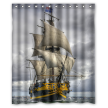 Ship #04 Shower Curtain Waterproof Made From Polyester - $31.26+