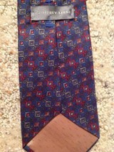 Mens Necktie 100% Silk Geoffrey Beene Blue Red Italy image 4